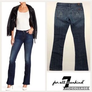 7 for All Mankind A Pocket Bootcut Jeans Sz 27